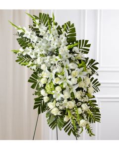 White Rose & Lily Standing Spray