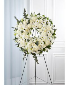 Serene Blessings Wreath In White