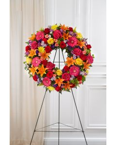 Serene Blessings Wreath In Bright