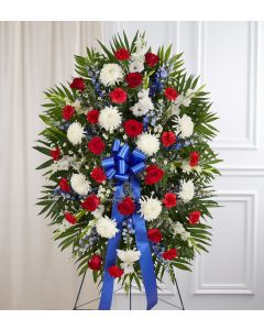Red, White & Blue Sympathy Spray