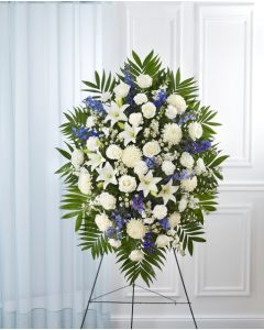Blue & White Sympathy Spray