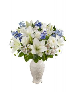 Loving Blooms In Blue & White