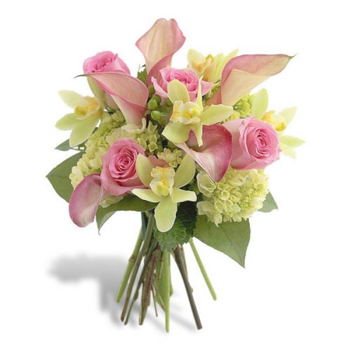 Pink Calla And Orchid Bouquet