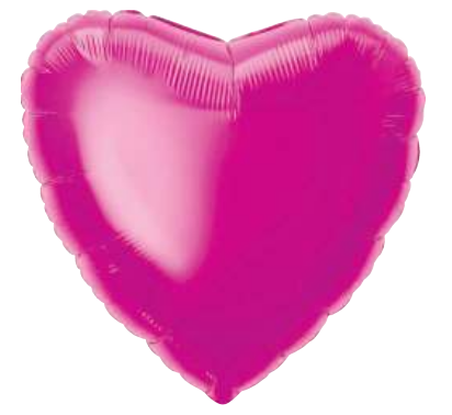 Solid Hot-Pink Heart Balloon