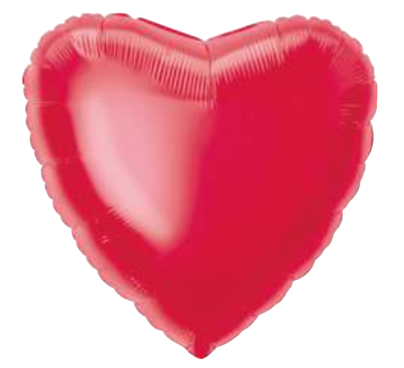 Solid Red Heart Balloon